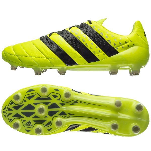 lowest price 0cfe2 c2958 adidas ACE 16.1 Leather FG/AG Solar Yellow/Core Black/Silver ...