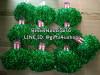 10 คู่=20 อัน สีเขียวเงา จัมโบ้ พู่ฟอยด์ใหญ่พิเศษ พู่เชียร์กีฬา พู่เชียร์ลีดเดอร์ ปอมปอมเชียร์