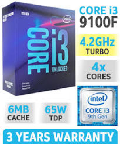 CPU (ซีพียู) INTEL 1151 CORE I3-9100F 3.6 GHz