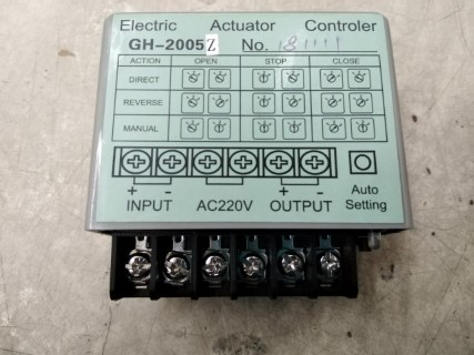 ELECTRIC ACTUATOR CONTROLLER GH-2005 AC200VDC ราคา 10602 บาท