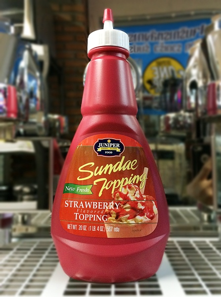 Juniper Sundae Topping Strawberry 20 Oz. (567 g.)