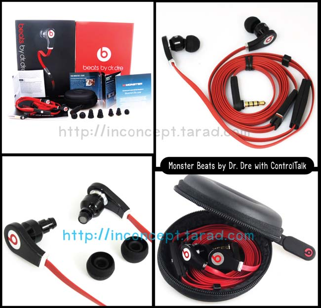 หูฟัง Monster Beats Tour by Dr. Dre with ControlTalk AAA สีดำแดง