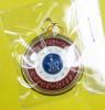 เหรียญหนุนดวง มหาโชค รับทรัพย์ เนื้ออัลปาก้าลงยา สีธงชาติ กรอบทองไมครอน ปี 62 ลพ.หวั่น วัดคลองคูณ
