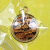 เหรียญหนุนดวง มหาโชค รับทรัพย์ เนื้อทองเหลืองลงยา สีลายเสือ กรอบทองไมครอน ปี 62 ลพ.หวั่น วัดคลองคูณ