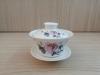ถ้วยรินชาสีขาว ลายโบตั๋นชมพู#2[99]