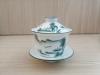 ถ้วยรินชาสีขาว ลายวิวสีเขียว#1[159]