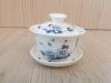 ถ้วยรินชาสีขาว ลายโบตั๋นน้ำเงิน#2[99]