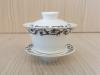 ถ้วยรินชาสีขาว ลายขอบดอกไม้#2[99]