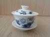ถ้วยรินชาสีขาว ลายโบตั๋นน้ำเงิน#1[199]