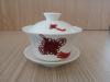 ถ้วยรินชาสีขาว ลายเงื่อนมงคล#1[199]