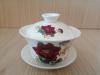 ถ้วยรินชาสีขาว ลายโบตั๋นแดง#1[199]