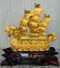 เรือหัวมังกร(หินหยก,หยก,ทอง,ทองทราย)15นิ้ว[1699][1500218]