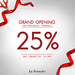 Grand Opening : Terminal 21 Branch