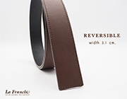 3.1 cm. Reversible Nappa Brown (Code : 31M0209)