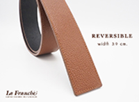 3.9 cm. Reversible Pebble Brown  (Code: 39M0202)