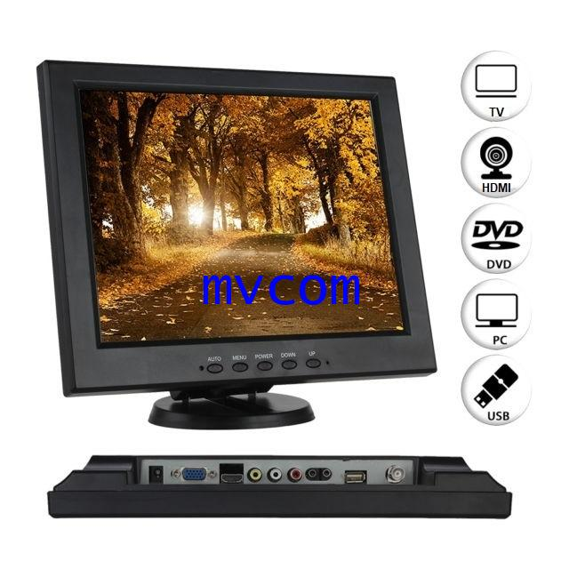 TFT 12 Inch LCD Monitor with AV/ TV / VGA / HDMI / USB Input รับประกัน 1 ปี