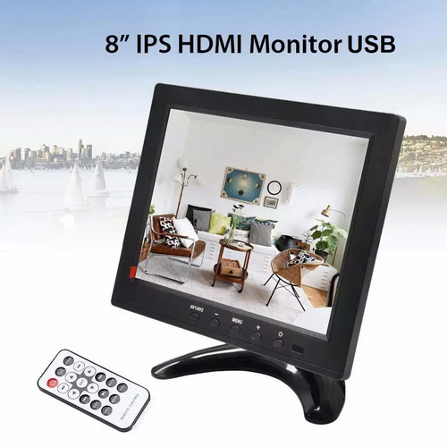Monitor LED 8 นิ้ว TFT IPS HD (4:3)Signal input VGA,AV,PC, HDMi,TV,รับประกัน 1 ปี