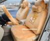 ชุดหุ้มเบาะรถยนต์ แบบผ้า ลาย: คุมะ แบบยกชุด 20 ชิ้น