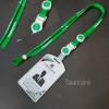 สายคล้องบัตร กรุงเทพมหานคร สีเขียว แถมฟรี กรอบใส่บัตรสีขาว Taladcard