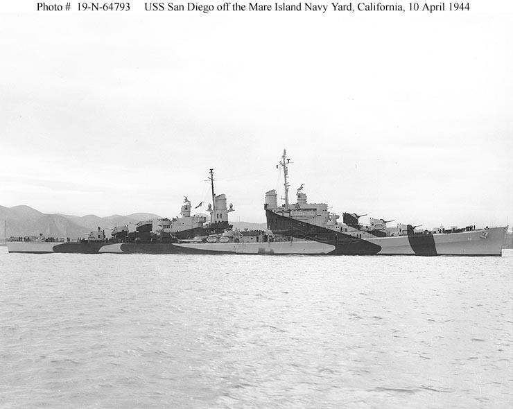 """USS San Diego """"1944"""" 1/700 มาล่าเรือ IJN กันบ้างครับ by Pek"""