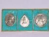 เหรียญพระแก้วมรกต รุ่นฉลอง 200 ปี กรุงเทพมหานคร  เนื้อเงิน พิมพ์แก้วมรกต 3ฤดู สภาพเดิม