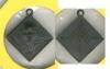 เหรียญหลวงพ่อแฉ่งวัดบางพัง จ.นนทบุรี เนื้อทองแดงรมดำ พิมพ์ข้าวหลามตัด รับประกันแท้แน่นอน