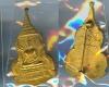 เหรียญพระพุทธ แนบวัดธรรมภิรตาราม กะไหล่ทอง