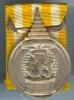 เหรียญที่ระฤกรัชกาลที่ 9 บรมราชภิเษก พ.ศ.2493 เหรียญเงิน พร้อมแถบ