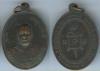 เหรียญหลวงพ่อแดงวัดเขาบันไดอิฐ จ.เพชรบุรี รุ่นสอง บล๊อกเลขแปด เนื้อทองแดง2.