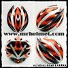 หมวกกันน็อคจักรยาน/ฟิกเกียร์ Bilmola รุ่น A012 สีส้ม-ดำ-ขาว