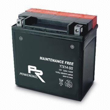 YTX14 -BS : Maintenance-free Motorcycle Battery