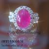 แหวนทับทิมล้อมเพชร เพชรคัดสวย ขาวน้ำ 98 ความสะอาด VVS ราคาโรงงาน จากเราผู้ผลิตโดยตรง
