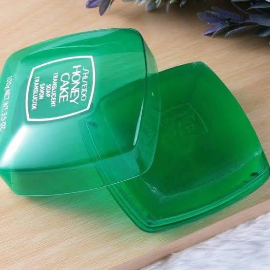 *พร้อมส่ง* Shiseido Honey Cake Translucent Soap 100g. พร้อมกล่องใส่สบู่ - คลิกที่นี่เพื่อดูรูปภาพใหญ่