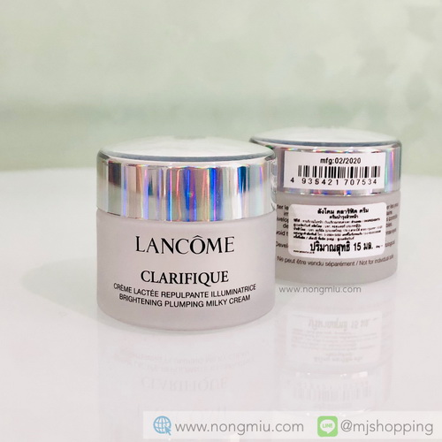 Tester : LANCOME CLARIFIQUE BRIGHTENING PLUMPLING MILK CREAM 15ml.