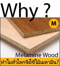 ทำไมคนทั่วโลกเลือกใช้ไม้เมลามีน ?