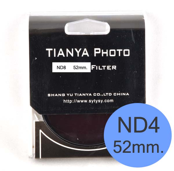 TIANYA Neutral Density ND 4 ND4 Filter 52mm.