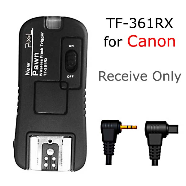 Receive Only TF-361RX Flash Trigger and Wireless Remote For Canon C8 C6