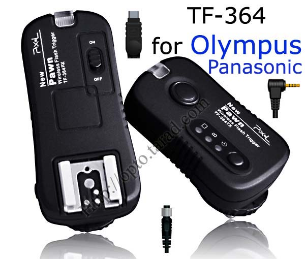Pawn TF-364 Flash Trigger and Wireless Remote For Olympus Panasonic O6 O8 P6