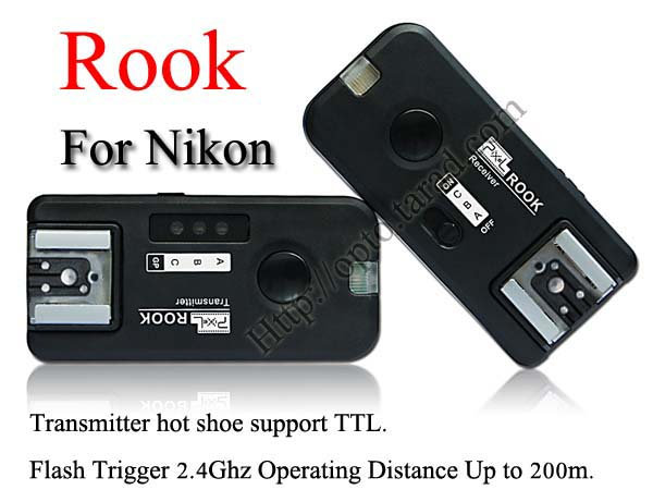 Pixel Rook 2.4GHz Wire/Wireless 5 in 1 Trigger Set for Nikon