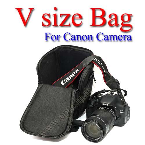 V-shape Size Bag For Canon 1200D 600D 700D 70D 5D 6D #6018194