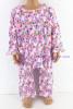 ชุดนอนเด็กหญิง ไซส์ 1-2 แขนยาว ขายาว ผ้ายืด (แบบโบว์อก กระดุม 2 เม็ด)