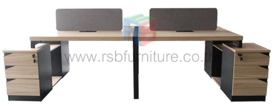 โต๊ะทำงานกลุ่ม WORKSTATION หน้าโต๊ะหนา 50 MM ขนาด W300XD150 CM รหัส 2745 - คลิกที่นี่เพื่อดูรูปภาพใหญ่