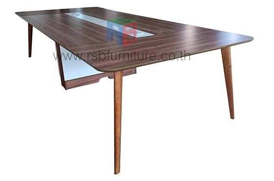 โต๊ะประชุมขาไม้+กล่องไฟ งานดีไซน์ รุ่นขายดี รหัส 2330 - คลิกที่นี่เพื่อดูรูปภาพใหญ่