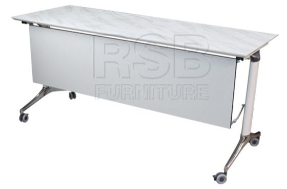 โต๊ะพับล้อเลื่อน โครเงหล็กหนา บังหน้าไม้ รหัส 2859 - คลิกที่นี่เพื่อดูรูปภาพใหญ่