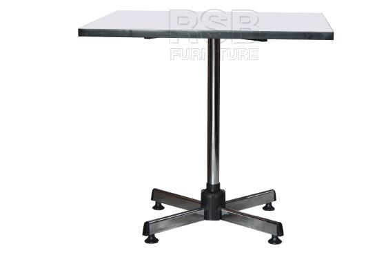 โต๊ะผิวโฟเมก้า ขาแชมเปญ ชุบเงา ขนาด 80 cm - คลิกที่นี่เพื่อดูรูปภาพใหญ่