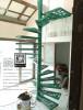 LD–B1265 บันไดวนอัลลอย พื้นอัลลอย บ้านสวนหัวหิน Alloy Spiral Staircase with Alloy Flooring @ Huahin