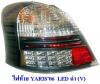 ไฟท้าย YARIS 2006-2012 LED สีดำ VLAND