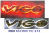 LOGO มีไฟ หลัง TOYOTA VIGO สีขาว-แดง