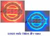 LOGO มีไฟ หลัง NISSAN TIIDA สีฟ้า-แดง
