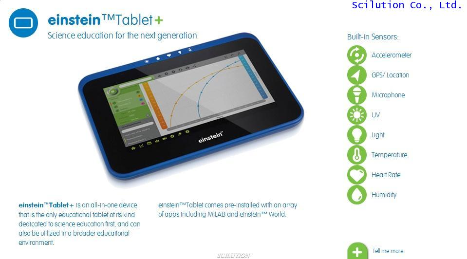 einstein™Tablet+ Android tablet with a built-in science lab